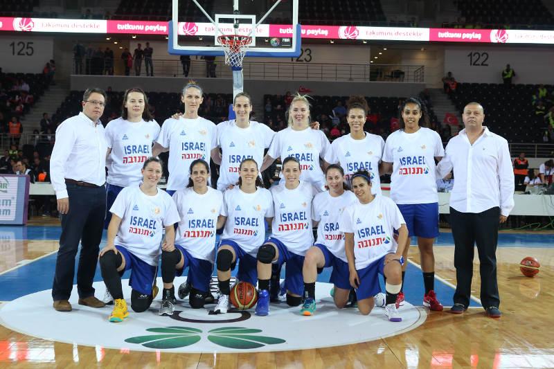 נבחרת הנשים של ישראל בטורקיה.