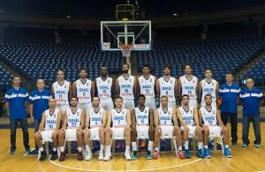 סגל נבחרת ישראל והמאמנים ליורובאסקט 2015